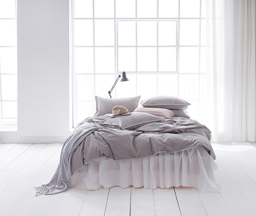 Gray Soft Bedding