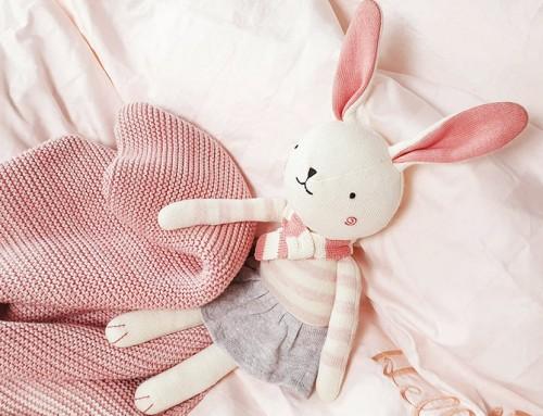 Organic Knit Pink Rabbit Allice